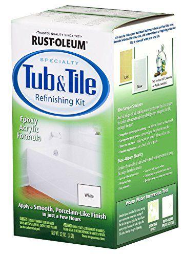32OZ WHT Tub/Tile Kit (Pack of 2) Rust-Oleum http://www.amazon.com/dp/B00KXWY1PA/ref=cm_sw_r_pi_dp_Uv8Twb137AJ5K
