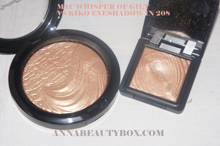 Mac Whisper of Guilt = Kiko Water Eyeshadow 208 @Daisy Stickel Stickel Stickel Knox go to kiko cosmetics.co.uk