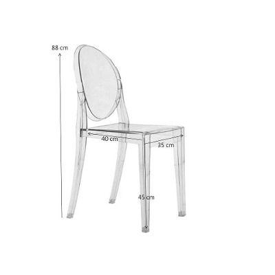 Cadeira Policarbonato Acrílico Transparente Ghost - R$ 338,00 no MercadoLivre