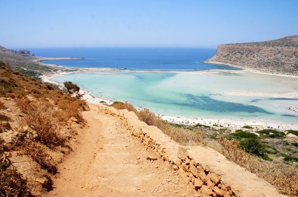 View to Balos Beach from the track road