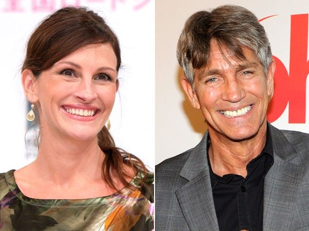 Julia and Eric Roberts - siblings. ❤❤ (Look at their smiles.... totally the same!) ❀◠‿ ◠)