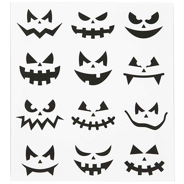 scary jack o lantern face template - halloween pumpkin face stickers halloween pinterest