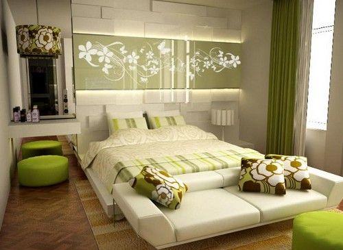 зеленая спальня дизайн фото