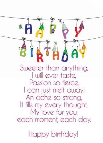 happy birthday love poems for girlfriend