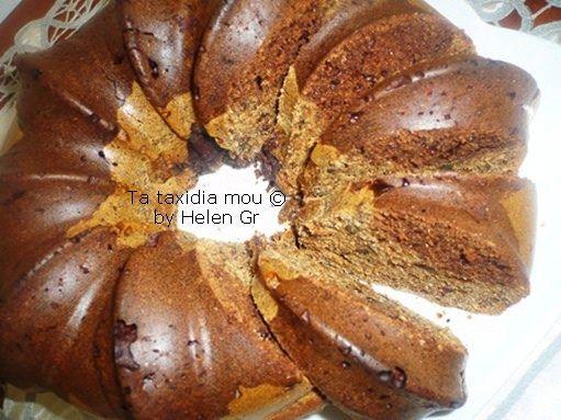 Τα ταξίδια μου : Κέικ με Χαρουπάλευρο, Δίχρωμο