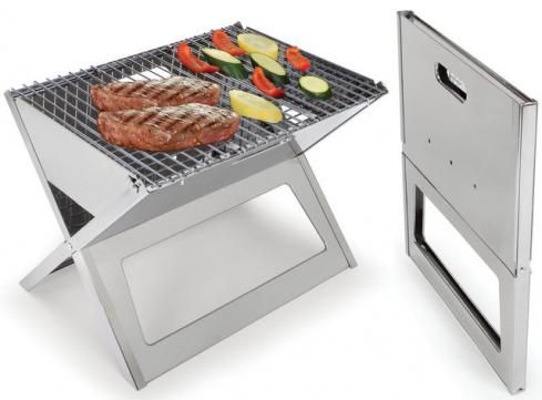 Awesome fold flat grill, easy to travel with