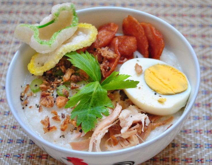 Simple Indonesian Chicken Porridge (Bubur Ayam) Recipe Chicken Porridge or Bubur Ayam is a traditional Indonesian breakfast recipe but is such a filling meal that most of us would eat something like that for lunch. Chicken porridge is also a great meal if you're feeling sick or cold and is not spicy like most Indonesian …