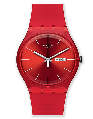 Holiday gift inspiration.Red Sports Watch Swatch.