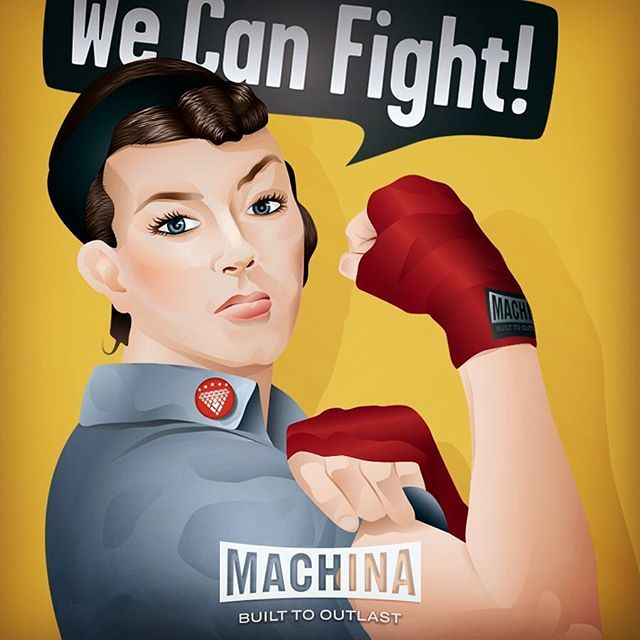 Yo! It's our birthday. Machina was born 4 years ago. We're proud to be the brand for women's boxing and look forward to serving you for as long as you still like punching stuff! #machinaboxing #womensboxing #boxingisbeautiful #seriousgear #spitfirebelchsmoke