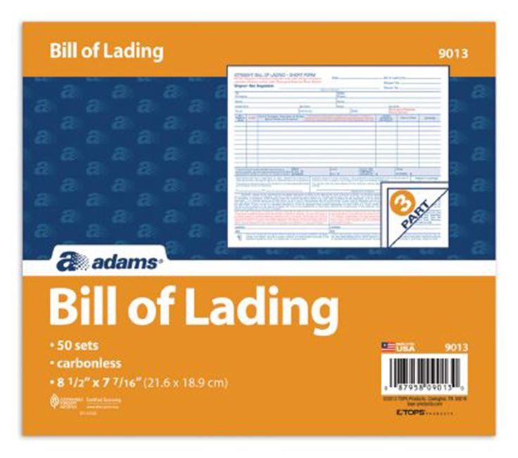 3 Part Bill of Lading Short Form (Set of 7) Products Pinterest - blank bol form