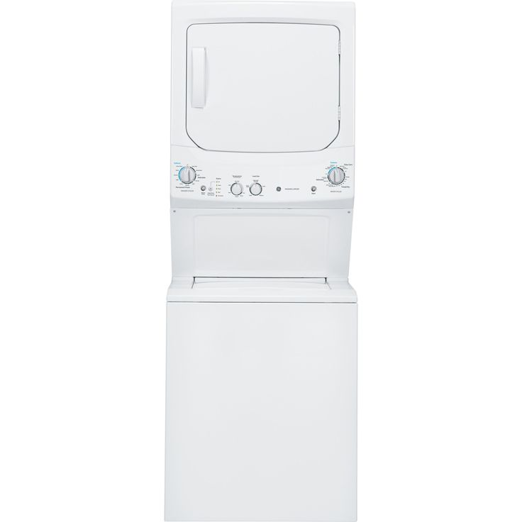 GE Unitized Spacemaker 3.2-cubic Feet Washer and 5.9-cubic Feet Gas Dryer