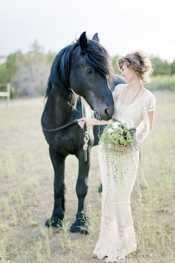 Naturalist Wedding Inspiration.   I want to ride a horsey on my wedding day! :)