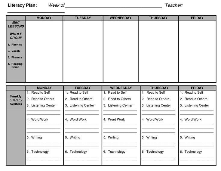 kindergarten lesson plan templates and kindergarten guided reading on pinterest. Black Bedroom Furniture Sets. Home Design Ideas