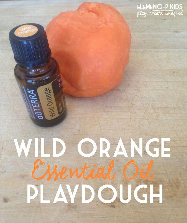 Wild Orange essential oil playdough recipe + benefits