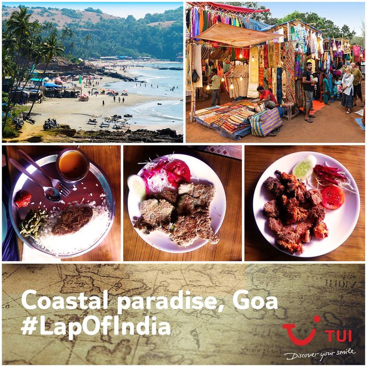 #TuiCar is heading to Anjuna flea market for quirky souvenirs and to Dudh Sagar for some nature loving. Goan food on the list too. Make notes for your trip to Goa! #LapOfIndia