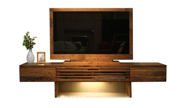 【ソムリエ】 巾・高さが選べる無垢材…220TVボード(ウォールナット)|天然木にこだわったMADE IN 広島|有限会社常盤家具製作所