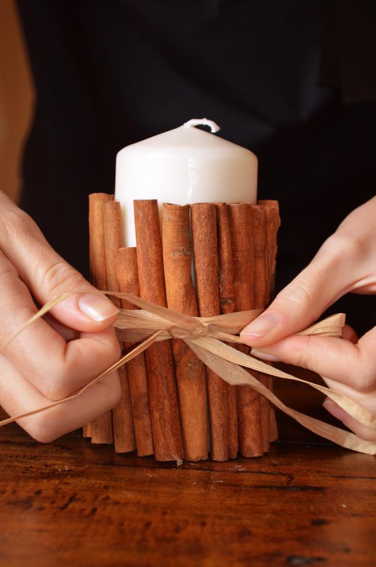 DIY candela alla cannella