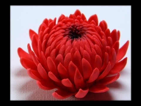 Gumpaste Flowers - How to make Gumpaste chrysanthemum - YouTube