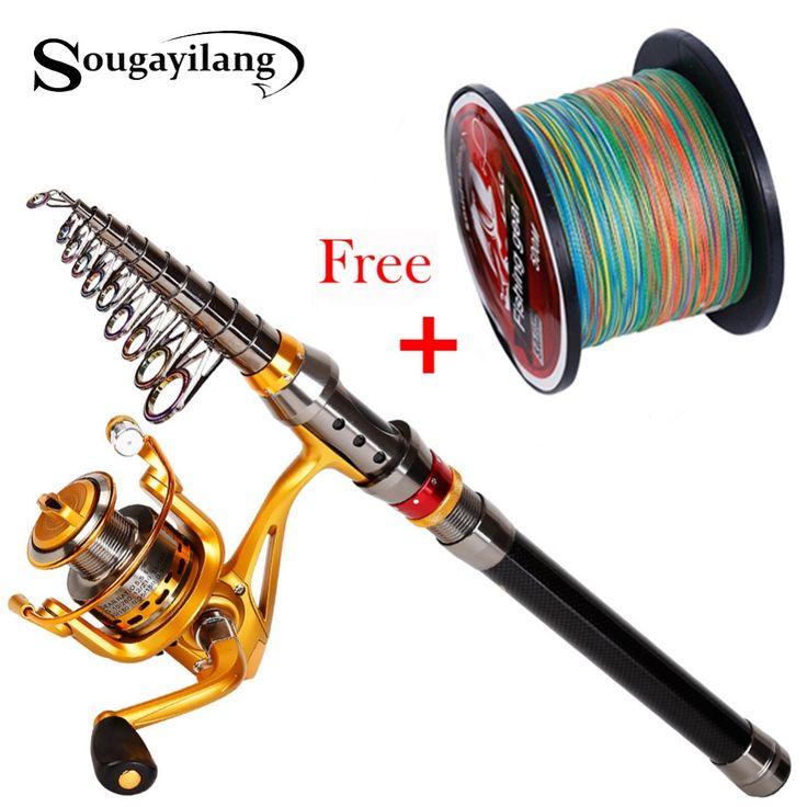 (36.15$)  Buy here - http://aij1r.worlditems.win/all/product.php?id=2038652367 - Sougayilang 1.8-3.6m Feeder Fishing Rod Carp de Carbon Fiber Spinning Fishing Rod Travel Telescopic Sea Fishing Rod