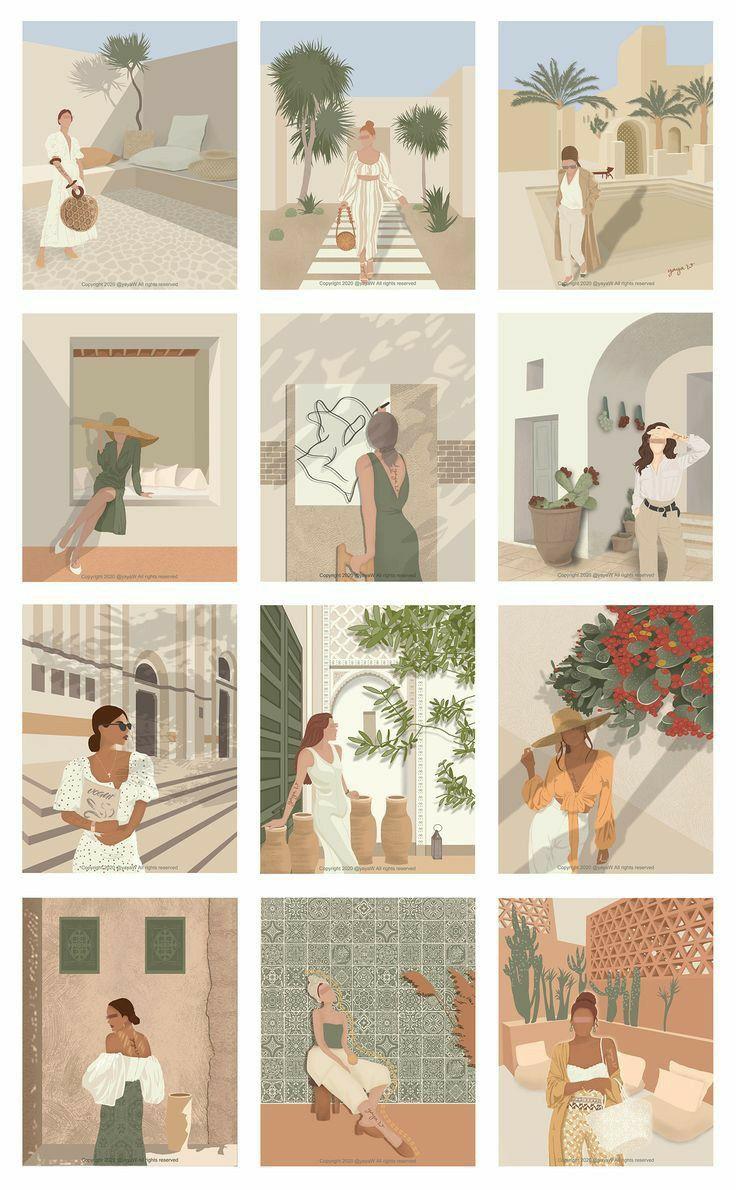 Stickers di 2021 | Seni abstrak, Abstrak, Ilustrasi poster