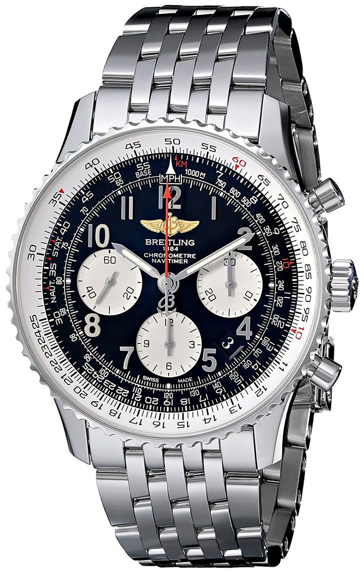 Breitling Men's AB012012/BB02SS Black Dial Navitimer 01 Watch ** You can get additional details at the image link.