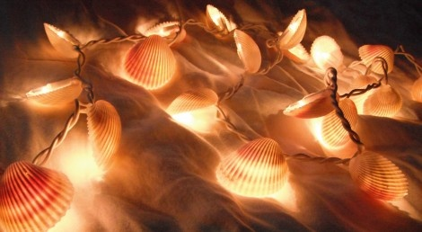 DIY -- String Lights Made of Shells