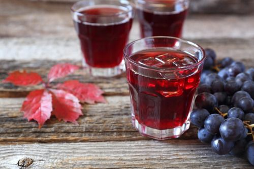 Glasses of grape juice and black grapes by photosimysia  IFTTT 500px