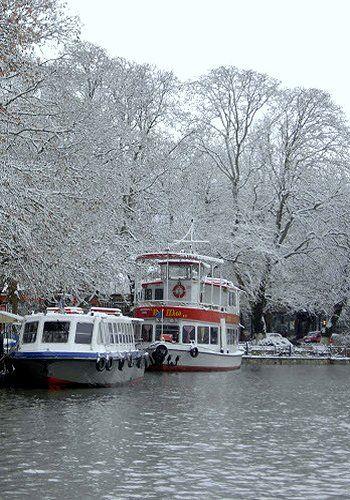 Lake Ioannina in winter, Epirus, Greece