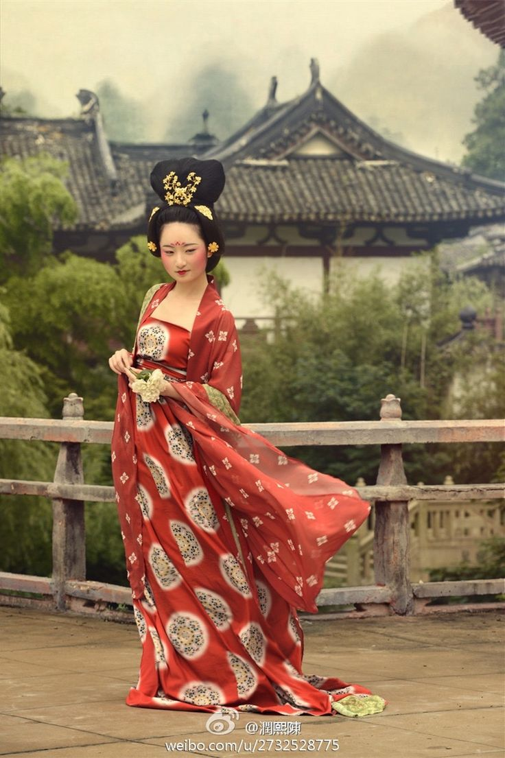 Late Tang Dynasty Style Hanfu and Hairstyle 民族衣装, 漢服, 唐装