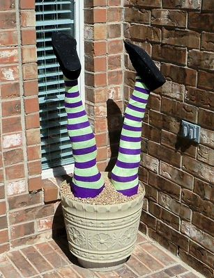 This one has the instructions.: Witch Legs, Pools Noodles, Halloween Decor, Noodles Ideas, Witch Topiaries, Halloween Witch, Buried Witch, Buy Plastic, Diy Craft