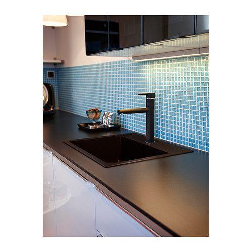 Black Kitchen Sink Ikea: HÄLLVIKEN 1 Bowl Insert Sink, Drain+strainer, Quartz