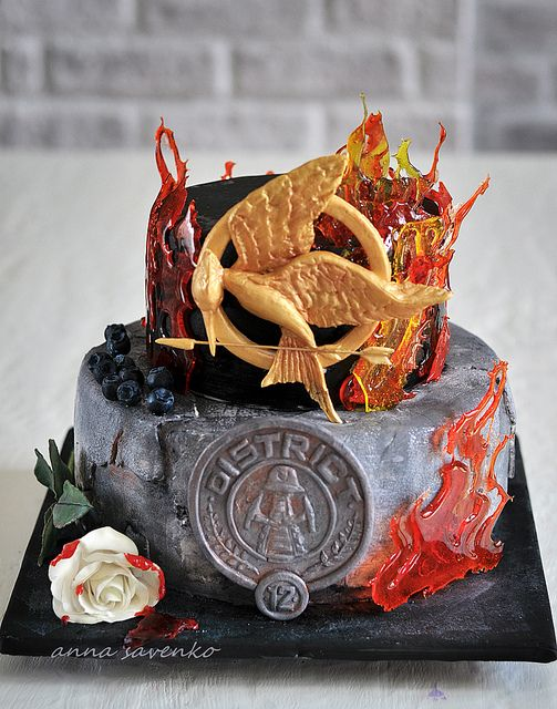 #TheHungerGames District 12 Cake
