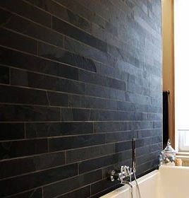accent walls same large greyblack slates on side walls of toilet and stairwell - Slate Cafe Ideas