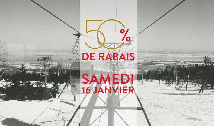 Le samedi 16 janvier prochain, le Mont-Sainte-Anne fête ses 50 ans en grande pompes et offre un rabais exceptionnel de 50% sur le billet de ski lors cette journée si spéciale!