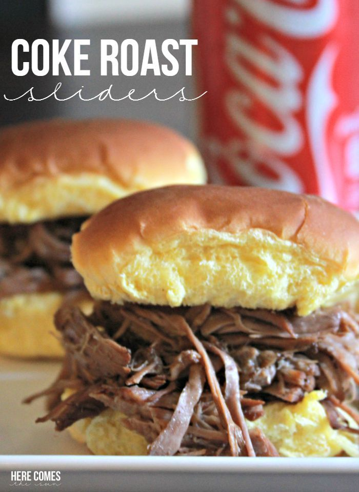 3 ingredient Coke Roast Sliders! Perfect slow cooker recipe!