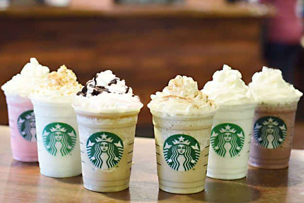 Today, Starbucks announced that it's launching six new Frappuccino flavors, available for a limited time.