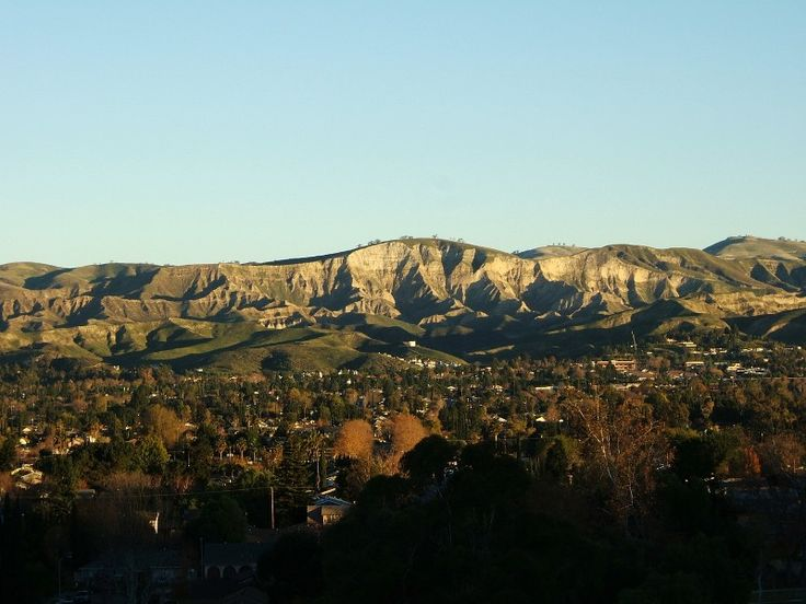Simi Valley, CA : Sunrise on White Face, Simi Valley, California