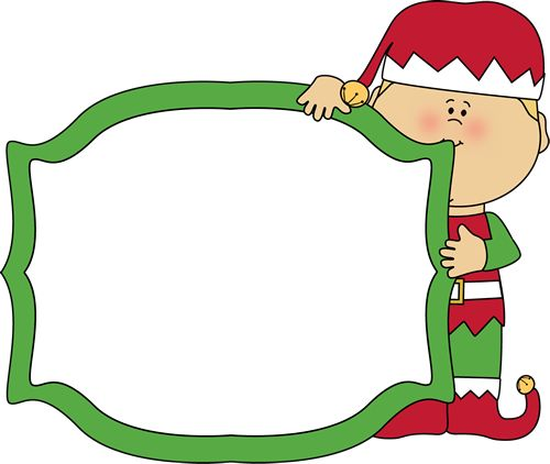 Christmas elf holding a blank sign.