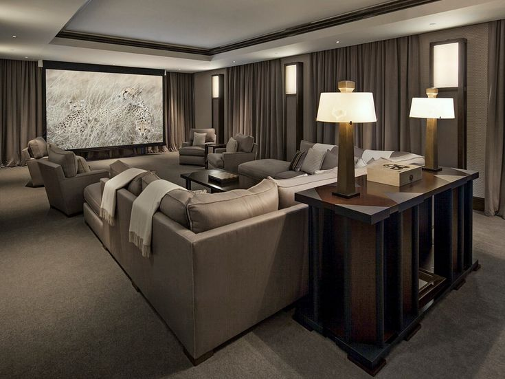 Home Theater with a Family Room feel...