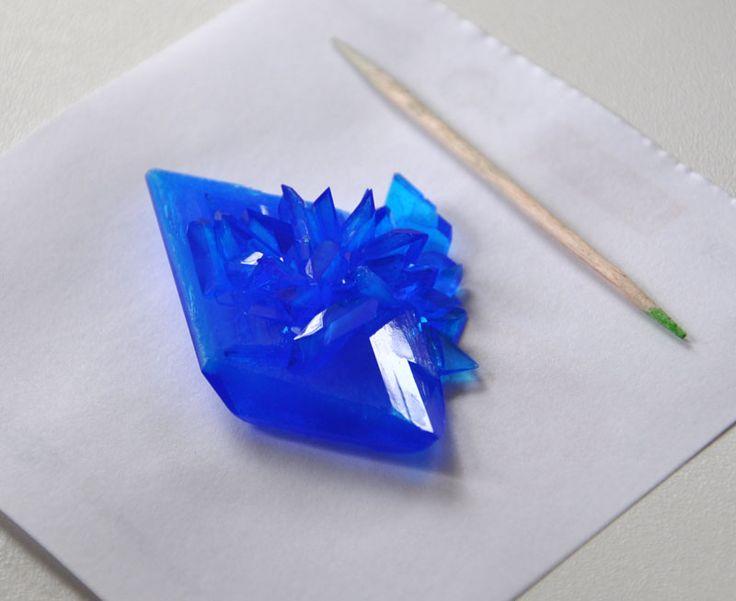 growing crystal