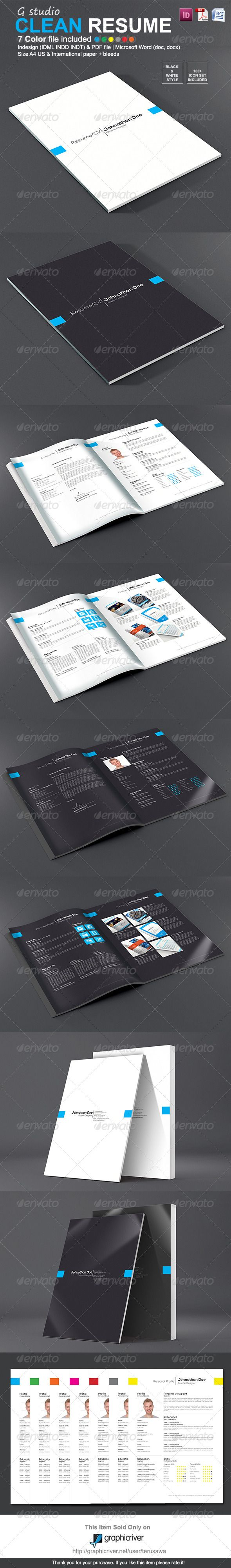 17 best images about print templates fonts flyer gstudio clean resume template graphicriver live preview resume template is easy customisable template is