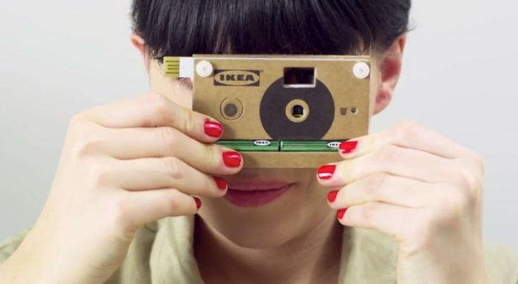 câmera digital reciclável da IKEA