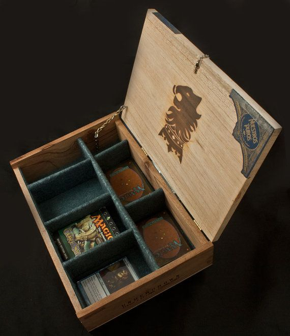 Magic The Gathering Wooden Deck Box - Undercrown Cigar Box