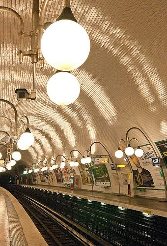 Cité Metro Station, Paris. Nice hallway art for home:) I need to start executing all these ideas lol