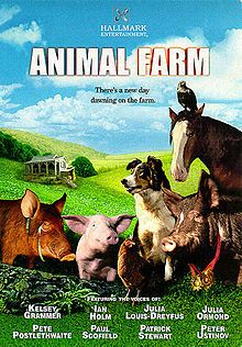 Animal Farm tells the story of farm animals successfully revolting against their human owner, only to slide into a more brutal tyranny among themselves.  Starring: Kelsey Grammer, Ian Holm, Julia Louis-Dreyfus, Patrick Stewart, Julia Ormond, Paul Scofield, Peter Ustinov and Pete Postlethwaite.