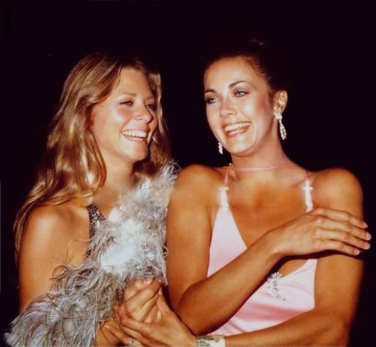 Lindsay Wagner and Lynda Carter. Bionic Woman. Wonder Woman. Together.