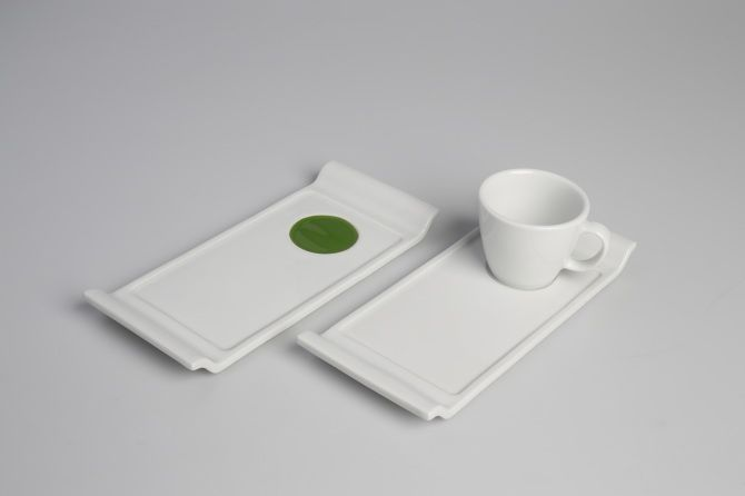 Vázy Litr a podšálky 20 cm - NALEJTO ceramic design