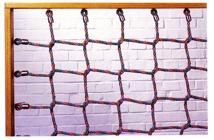 Kletternetz, 16 mm Herkulestau Maschenweite 400 mm, Knoten handverspleißt