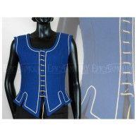 Ladies Vest Blue. Item can be found at http://www.larpcanada.com