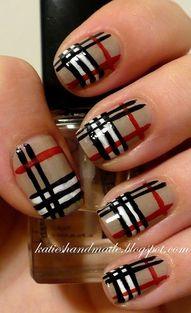 Burberry nail art.: Nails Art, Nails Design, Nailart, Nailpolish, Naildesign, Plaid Nails, Nails Ideas, Nails Polish, Burberry Nails